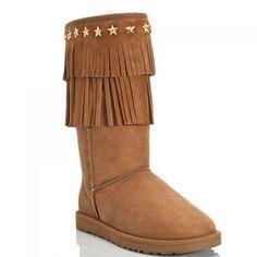 070a423cf208 Jimmy Choo Ugg Suede Sora Fringe Shearling Boots Chestnut Ugg Boots Cheap