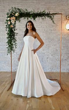 SIMPLE STRAPLESS WEDDING GOWN WITH POCKETS Bridal Gowns, Wedding Gowns, Stella York Bridal, Gown Pictures, Wear Store, Bridal And Formal, Formal Wear, One Shoulder Wedding Dress, Ball Gowns