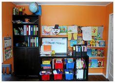 Lovely homeschool room homeschool-room