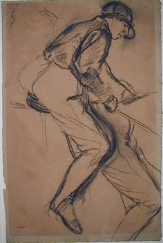 Edgar Degas (1834 - 1917) Seated jockey facing right