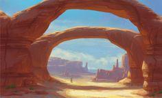 ArtStation - Desert Arches, Miranda Estby