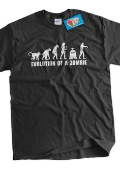 Evolution Of A Zombie TShirt Zombies Zombie Movies by IceCreamTees, $14.99