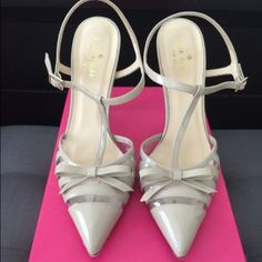 Kate Spade heels In great condition Kate Spade heels. Soles show normal wear. Purchased at Neiman Marcus and will come with original box and dust bag. Comes from a clean, Non-smoking home. kate spade Shoes Heels