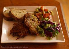Zucchini Fritters / Avocado Salsa