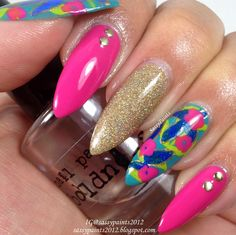 Sassy Paints: Nail art inspired by Tarte Cosmetics Golden Days & Sultry Nights palette.