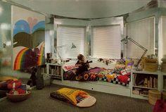 Vintage Interior Design, Futuristic Design, Soft Sculpture, Kidsroom, Kids Bedroom, Cool Kids, Vivid Colors, Toddler Bed, Interior Decorating