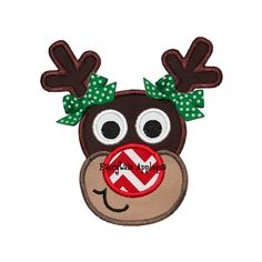 Digital Machine Embroidery Design  Rudolph by FairytaleApplique, $3.99