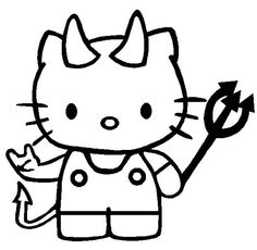 Transmissionpress Hello Kitty As A Little Devil Coloring Pages