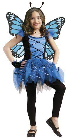 Girls Butterfly Ballerina Fairy Halloween Costume | Girls Blue Butterfly Ballerina Fairy Halloween Costume | eBay