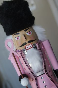pink nutcracker - breast cancer awareness