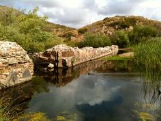 San Diego River's Old Mission Dam. Located in Mission Trails Park.