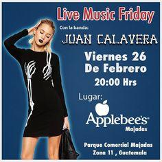 Amigos Calavera! Este Viernes tocaremos en @applebeesgt de Majadas! Quieres Sacudir los Huesos? #livemusic