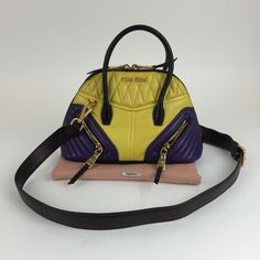 Miu Miu biker Nappa Lambskin bag This bag is a great little bag in good condition it does have a dust cover. Strap and authentication cards shows very minimal wear. MAX060364LORPP Miu Miu Bags Shoulder Bags