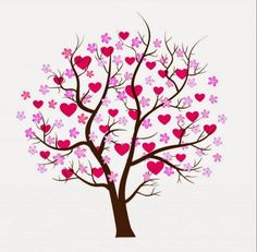 """Buy the royalty-free Stock vector """"Love design. Tree with hearts vector art"""" online ✓ All rights included ✓ High resolution vector file for print, web &. Art Pierre, Where Is The Love, Valentine Tree, Heart Tree, Tree Designs, Art Design, Tree Art, Tree Branches, Trees"""