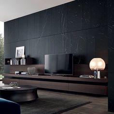 Living Room Tv, Living Room Modern, Living Room Interior, Modern Bedroom, Living Spaces, House Layout Plans, House Layouts, Home Room Design, Living Room Designs
