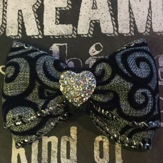 A personal favorite from my Etsy shop https://www.etsy.com/listing/426848673/2-black-and-gray-swirl-mini-bow
