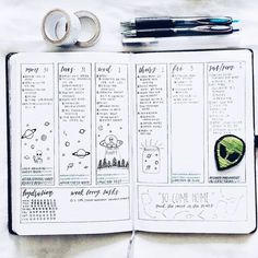 """420 Likes, 8 Comments - ˗ˏˋ jenn ˎˊ˗ (@jennystudies) on Instagram: """"space themed spread!! (again) thanks to my terrible phone camera, none of the colors show very well…"""""""