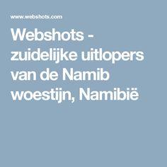 Webshots - zuidelijke uitlopers van de Namib woestijn, Namibië