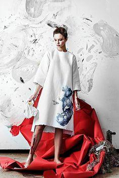 """Lisa Smirnova. Modelo de la colección """"Artist at home"""""""
