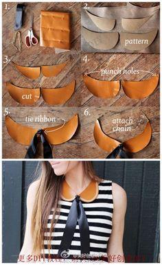 Teach you DIY fake collar, come learn it! - More interesting, please follow @ OK Creative DIY (http://t.cn/zOR4l2D)