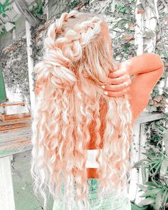 Try New Hairstyles, Boho Hairstyles, Pretty Hairstyles, Hair Due, Honey Blonde Hair, Aesthetic Hair, Tips Belleza, Dream Hair, Cool Hair Color