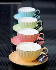 Handmade jumbo teacup candles (naturally-scented) by SquinkStudio (Sydney)