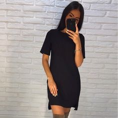 Cheap loose dress, Buy Quality summer dress directly from China mini dress Suppliers: Summer Dress 2018 Women's Short Sleeve Casual O-Neck Loose Dress Beach Mini Dresses Plus Size Vestidos Summer Dresses 2017, Beach Dresses, Summer Dresses For Women, Dress Beach, Mini Dresses, Cheap Dresses, Casual Dress Outfits, Summer Dress Outfits, Dress Summer