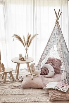 I am absolutely loving the look of this kids play area! ⠀⠀⠀⠀⠀⠀⠀⠀⠀ How adorable is the moon🌛⠀⠀⠀⠀⠀⠀⠀⠀⠀ ⠀⠀⠀⠀⠀⠀⠀⠀⠀ image via ⠀⠀⠀⠀⠀⠀⠀⠀⠀ ⠀⠀⠀⠀⠀⠀⠀⠀⠀ Baby Bedroom, Baby Room Decor, Nursery Room, Girls Bedroom, Bedroom Decor, Baby Playroom, Kids Room Design, Little Girl Rooms, Room Inspiration