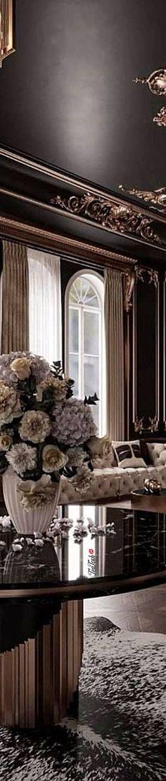 ❈Téa Tosh❈ #Luxury #teatosh #Posh 3b Elegant Living Room, Modern Interiors, Mansions, Luxury, Gallery, Living Rooms, Restaurants, Room Ideas, Hotels