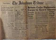 The Johnstown Tribune - World War II: April 18, 1944: Britain Curbs Diplomatic Corps to ...