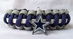 Custom Handmade Dallas Team Paracord Bracelet Made with an Officially Licensed Pewter Dallas Cowboys Charm - FREE Shipping Paracord Bracelets, Paracord Knots, Football Crafts, How Bout Them Cowboys, Paracord Projects, Love My Boys, Dallas Cowboys, Bracelet Making, Teen Fashion