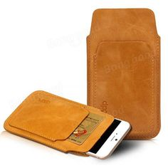 Original D-park Kangaroo Multi-function Cell Phone Leather Pouch Case For 4.7 inch or less Cell Phone
