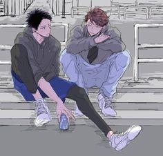 Haikyuu!! Iwaizumi and Oikawa