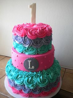 multi colored Rose Cake ..  LOVE!