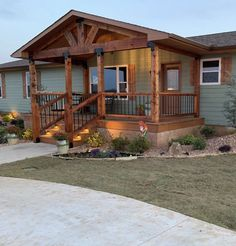 Mobile Home Exteriors, Mobile Home Porch, Mobile Home Renovations, Remodeling Mobile Homes, Manufactured Home Porch, Front Porch Design, Barn House Plans, Exterior Makeover, Exterior Remodel