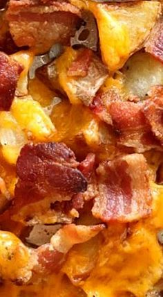 Crack-Tatoes - AKA Roasted Potatoes with Bacon and Cheese - unbelieveably easy to make and they're crazy good! ❊