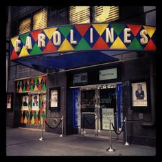Carolines on Broadway. Famous Comedy Club in NY Seeing 444, Stand Up Comics, Some Nights, National Lampoons, Map Of New York, Travel Posters, Comedians, Four Square, Broadway