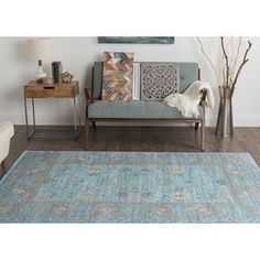 Shop for Alise Rugs Heritance Aqua Traditional Area Rug (7'10 x 9'10). Get free shipping at Overstock.com - Your Online Home Decor Outlet Store! Get 5% in rewards with Club O! - 20958254
