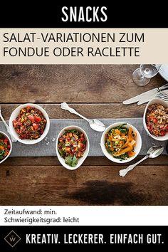 Köstlich vielseitige Salat-Variationen für den perfekten Jahreswechsel – ob zu Raclette, Fondue oder dem Silvester-Buffet. #salat #rezepte #variationen #fondue #raclette #rezept Raclette Fondue, Snacks, Beef, Food, Raclette Recipes, Easy Meals, Chef Recipes, Kochen, Food Food