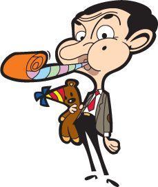 Bean and Teddy Mr Bean Cartoon, Teddy Bear Cartoon, Mr Bean Birthday, 2nd Birthday, Mr Bean Cake, Mr Bin, Cartoon Charecters, Cartoon Birthday Cake, Cute Doodle Art