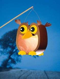Owl Lantern - for Winter Lantern Parade Owl Lantern, Lantern Craft, Owl Crafts, Preschool Crafts, Paper Crafts, Cute Origami, Origami Rose, Diy For Kids, Crafts For Kids