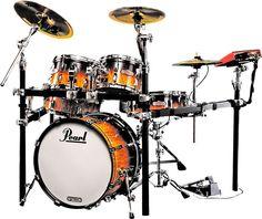 Pearl E-Pro Live Electric Acoustic Drum Set. Fabulous Kit - Electric and Acoustic