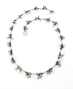 Seed pearl and oxidized sterling silver necklace by Susan Drews Watkins. A best-seller! Gallery Lulo.