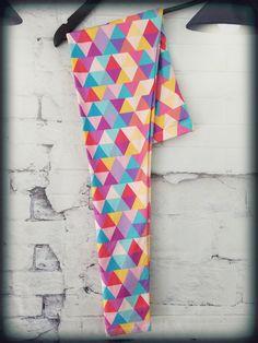 Women Sizes 3-9 #colorful #bright #vibrant #art #geometric #triangles #triangle #diamond #diamonds #abstract #yellow #pink #lightblue #red #orange #rainbow #pattern #patterns #design #fashion #leggings