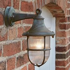 Naples Outdoor Wall Light Aged Copper - All For House İdeas Lighting Uk, Outdoor Wall Lighting, Outdoor Walls, Lighting Ideas, House Lighting, Apartment Lighting, Garage Lighting, Landscape Lighting, Kitchen Lighting