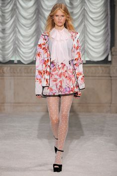 Loving that blouse, skirt, and those stockings! Giamba Spring 2015