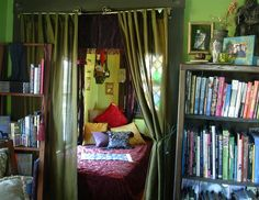 view into the tiny green room from the library My New Room, My Room, Room Ideas Bedroom, Bedroom Decor, Aesthetic Room Decor, Dream Home Design, Dream Rooms, Cool Rooms, House Rooms