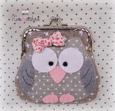 . Felt Purse, Diy Purse, Owl Patterns, Purse Patterns, Patchwork Bags, Quilted Bag, Cute Purses, Purses And Bags, Diy Bags Tutorial