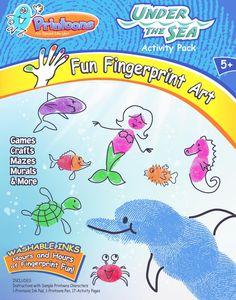 thumbprint art | UNDER THE SEA PRINTOONS FINGERPRINT ART KIT] FINGERPRINT ART KITS FOR ...