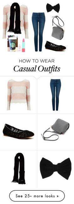 """""""casual outfit"""" by abbygirly on Polyvore featuring Vero Moda, NYDJ, Lucky Brand, claire's, Rimmel and Louis Vuitton"""